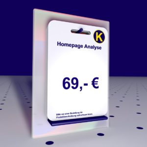 Homepage Analyse