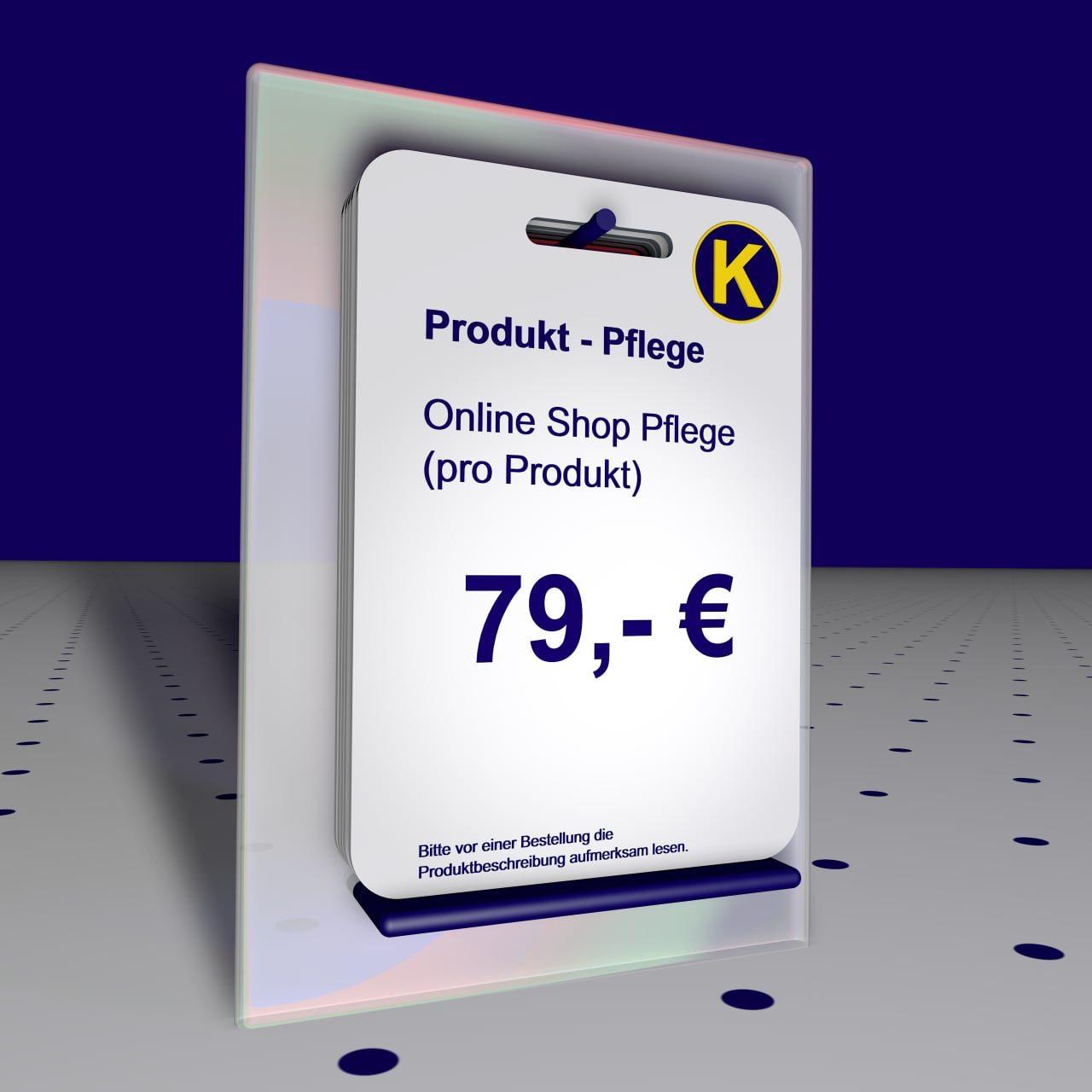 Online Shop Produkt Pflege