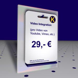 Youtibe Video auf Webseite einbinden